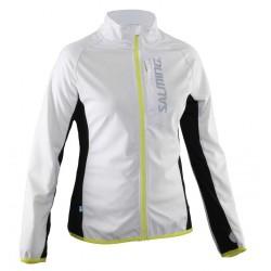 Dámská běžecká bunda SALMING Running Jacket Women White.
