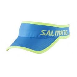 Běžecká čepice SALMING Running Cap Cyan Blue/Yellow.