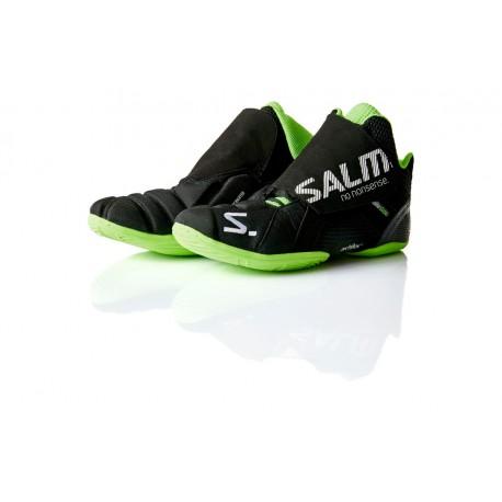 SALMING Slide 4 Goalie Shoe Black/Green