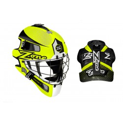ZONE Goalie mask ICON 1.8 neon yellow/white/black
