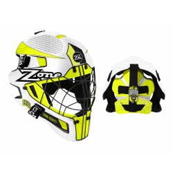 ZONE Goalie mask ICON 2.1 white/neon yellow/black